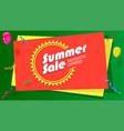 summer sale fantastic offer poster hot bright vector image vector image