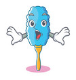 surprised feather duster character cartoon vector image vector image