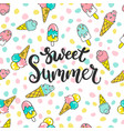 sweet summer pattern vector image vector image