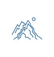 the mountains line icon concept the mountains vector image vector image