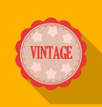 vintage icon in flat style isolated on white vector image