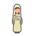 virgin mary icon vector image vector image