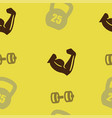weightlifting pattern seamless vector image vector image