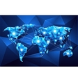 World map Global Network vector image vector image