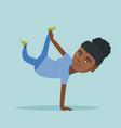 young african-american woman breakdancing vector image vector image