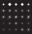 sparkle symbols and vector image
