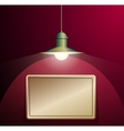 Ancient lamp hanging Big and empty bronze plate vector image vector image