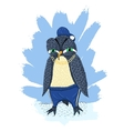 Angry penguin vector image vector image