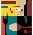 beauty retro restaurant menu design vector image