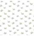 beige swallow birds seamless pattern with birds vector image vector image