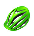 bicycle helmet isolated on white vector image vector image