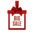 Big sale square banner in form of gift on white vector image vector image
