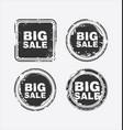 big sale stamp 2 vector image vector image