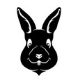 black rabbit sign vector image vector image