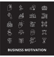 business motivation editable line icons set vector image vector image