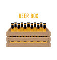 cartoon box with beer bottlesbasket drink vector image