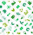 cartoon ecology signs seamless pattern background vector image vector image