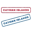 Cayman Islands Rubber Stamps vector image vector image