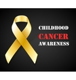 Childhood Cancer Awareness gold ribbon background vector image vector image
