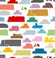 Colorful cars seamless pattern Lovely texture from vector image