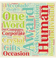 Corporate awards text background wordcloud concept vector image vector image