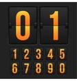 Countdown timer white color mechanical scoreboard vector image vector image