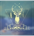 Deer head Hipster art vector image vector image