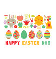 easter set of elements in flat design vector image vector image