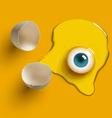 egg eye vector image vector image