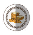 emblem various types of bread icon vector image vector image