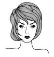 fashionable beautiful woman vector image vector image