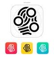Fingerprint loop type scan icon vector image