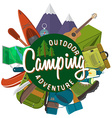 Flat design modern of camping and hiking equipment vector image vector image