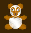 flat shading style icon toy panda vector image vector image