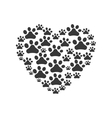 foot print heart love pet animal icon vector image vector image