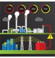 Geothermal power station Trendy infographics set vector image vector image