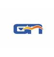 GN letter logo vector image vector image