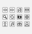 gray icons vector image vector image