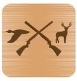 hunting club logo icon vector image vector image