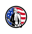 industrial worker spray disinfectant standing usa vector image vector image