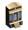isolated library building vector image