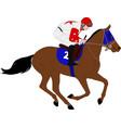 jockey riding race horse 7 vector image vector image