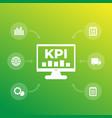 kpi key performance indicator vector image vector image