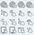line icons set vector image vector image