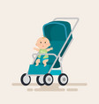 little baby in cart character vector image vector image