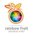 Logo Rainbow Fruit Orange Food Nutrition Symbol vector image vector image