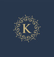 luxury crest decorative hotel boutique logo vector image vector image