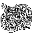 marble hand drawn with dry brush wave pattern vector image
