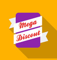 mega discount icon in flat style isolated on white vector image vector image