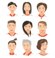 Men and Women Hand Drawn Face Avatars Set vector image vector image